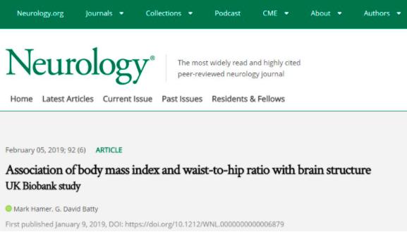 最新研究表明:肚子越大,脑子越小